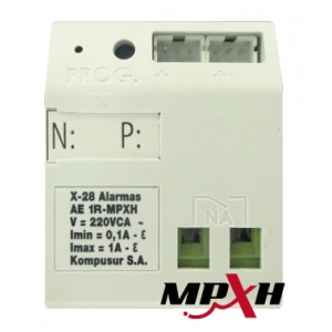 AED 1R MPXH Modulo control disp. Electricos Tipo on/off 1 Salida a Rele 8A. Riel DIN